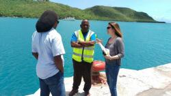 Dr Angela Hibbert discusses possible tide gauge installation locations