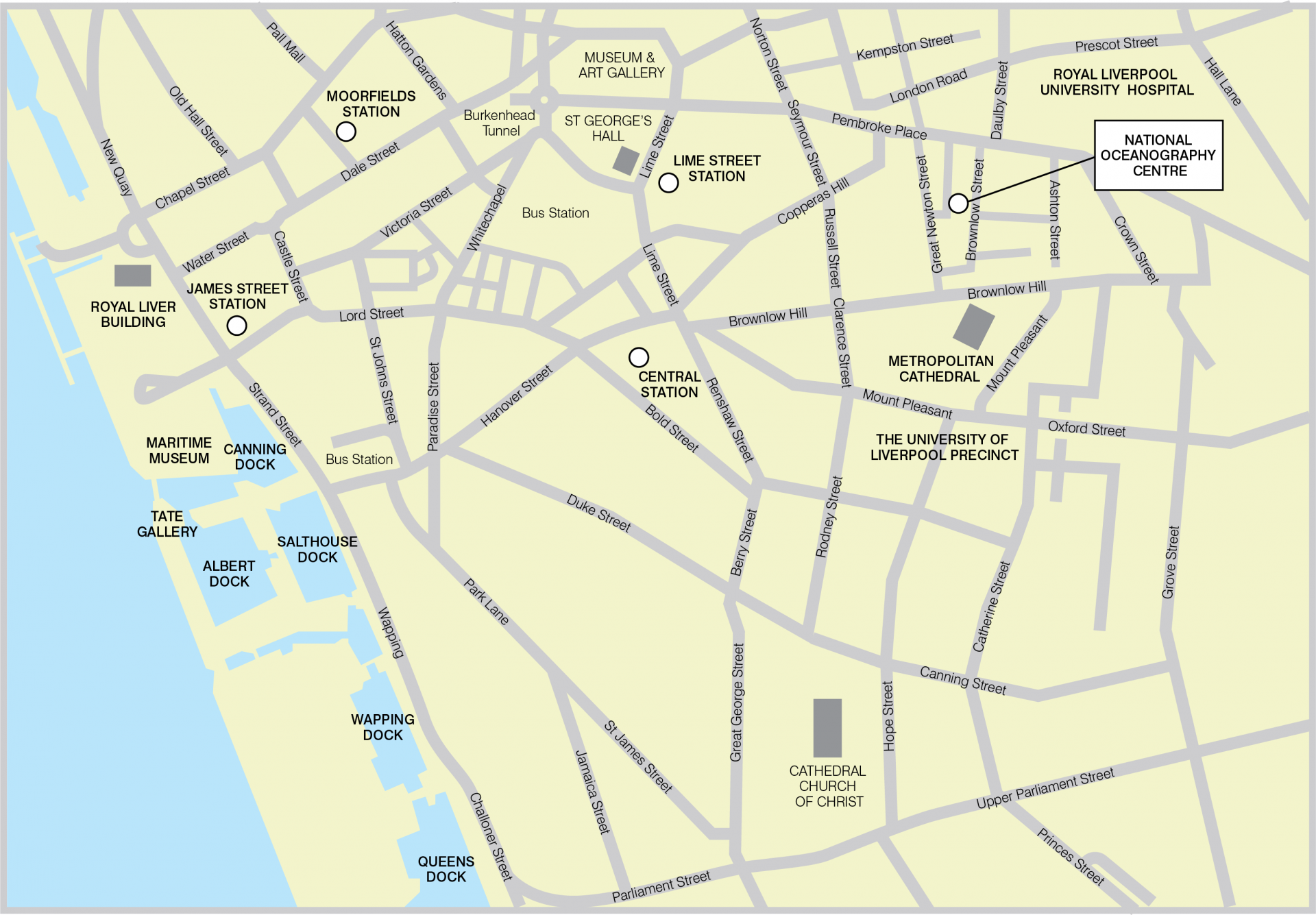 Map of showing the location of our Liverpool  centre