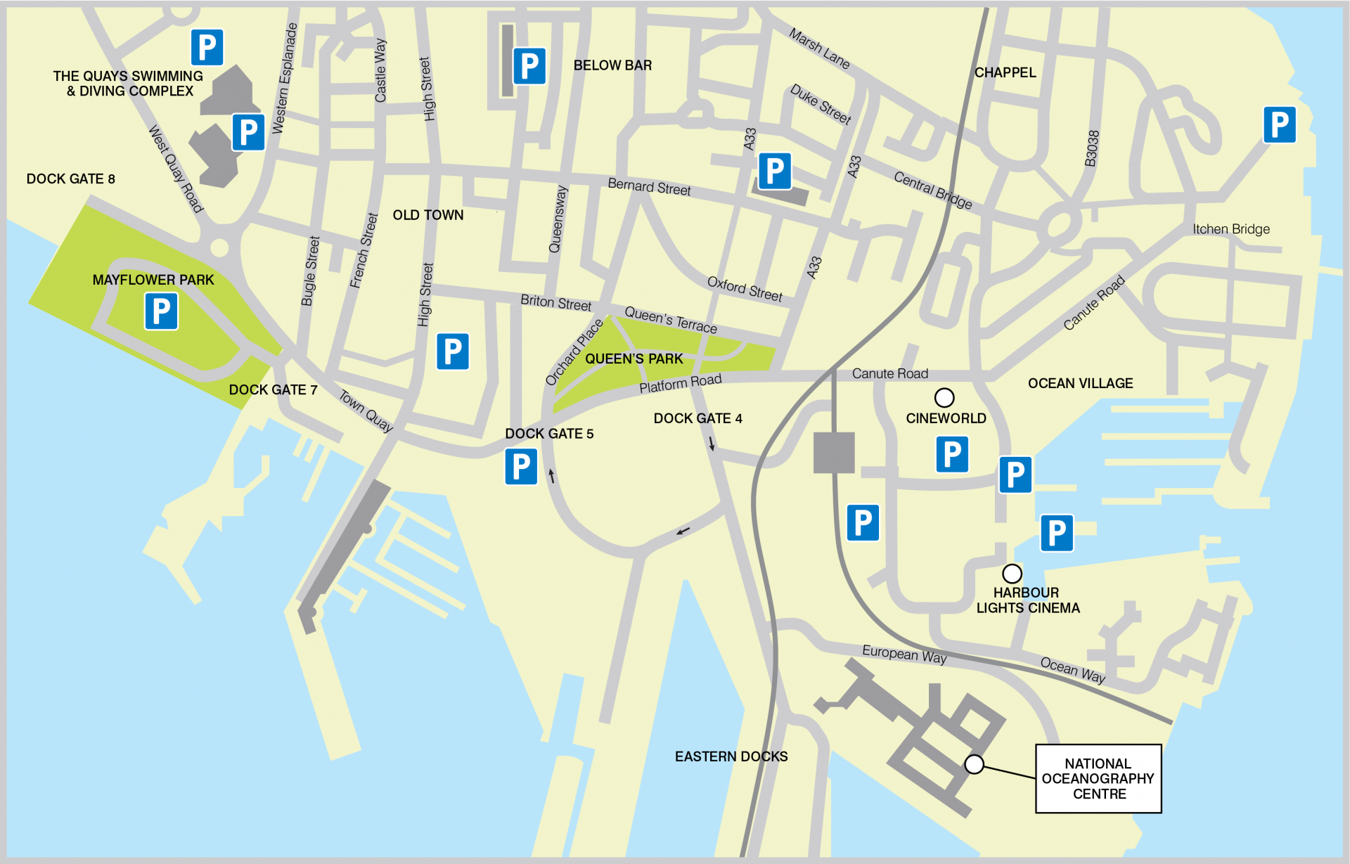 Map of showing the location of our Southampton  centre
