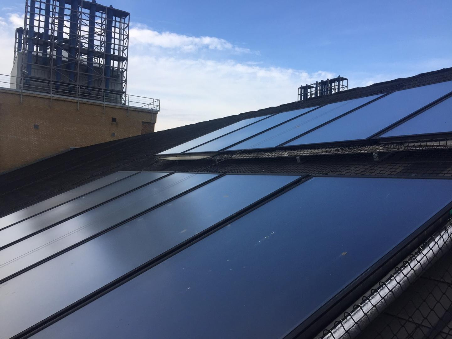 Solar Thermal Collectors, installed in 2016, help NOC to heat hot water for the laboratory spaces.