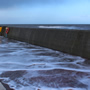 Storm surge at New Brighton, Wirral coast