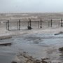 Storm surge at Hoylake, Wirral coast