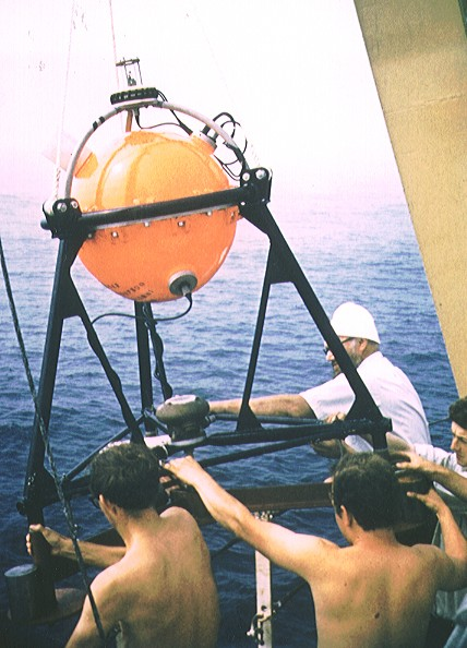 First Mk1 OSTG deployment in July 1969 at Hurd deep 109 metres