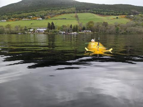 A2KUI having a solo swim in Loch Ness