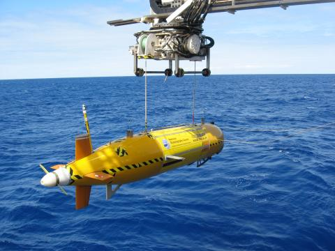 Autosub6000, which will be used to map areas of the seafloor using sonar and photography