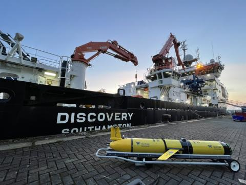 Underwater gliders deployed from RRS Discovery contributed to global research on the ocean carbon cycle. (Credit: Filipa Carvalho, as part of GOCART Project)