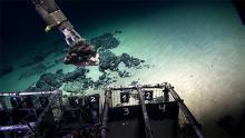 ROV sampling the seabed