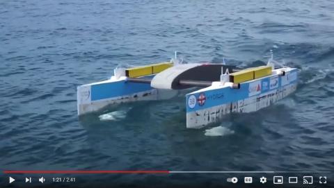 2 meter catamaran on the sea