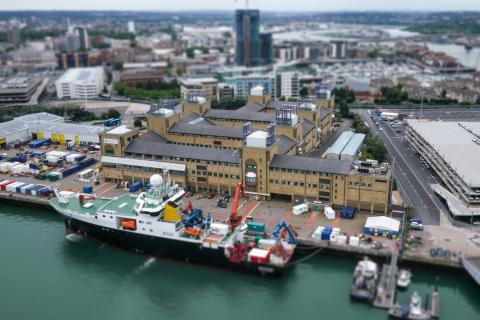 Aerial view of the NOC, Southampton