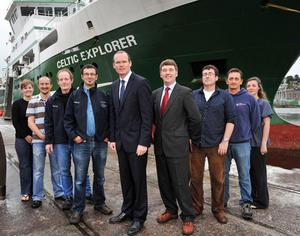 Some to the VENTuRE team with the RV Celtic Explorer