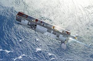 The GOCE gravity satellite (courtesy ESA)