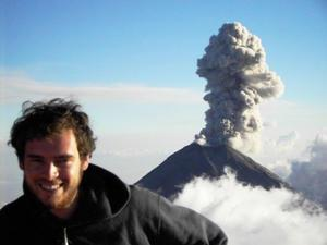 Mike Cassidy with volcano