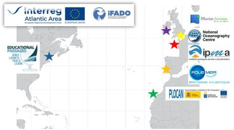 Map showing iFADO miniboat participants