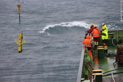 Glider deployed from the RRS James Cook