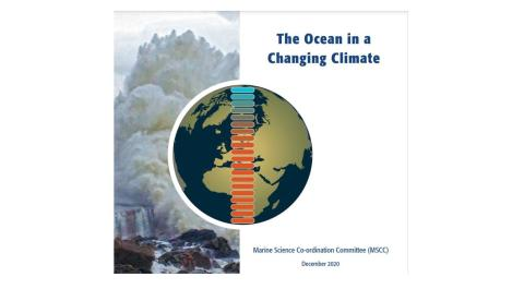 Front cover of MSCC The Ocean in a Changing Climate statement