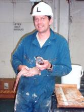 Alan Jamieson with one of his beloved deep-sea fish