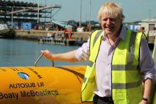Foreign Secretary Boris Johnson, on a visit to the NOC in Southampton