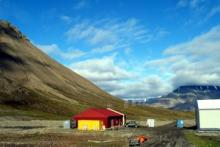 Core shed in Spitsbergen