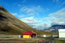 Core shed in Spitsbergen