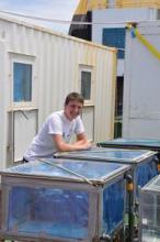 David and his incubation set-up