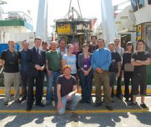 The VENTure Team in front of the ROV Holland 1 in Galway Docks (courtesy of Marine Institute)