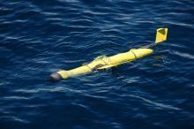 Ocean glider on deployment