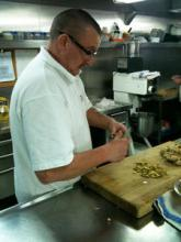 Darren showing how it should be done in the galley