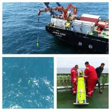 Deepglider being deployed from RRS James Cook