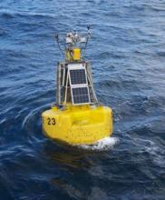 A moored data buoy (courtesy of Jon Campbell)