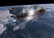 GOCE in orbit (image: © ESA / AOES Medialab)