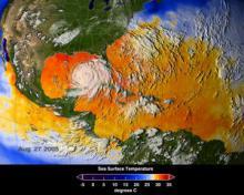 Hurricane Katrina (credit: NASA/SVS)