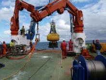 ODAS buoy being deployed