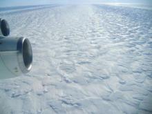 Aerial shot of the Pine Island Glacier (credit: Angelika Humbert, Alfred Wegener Institute)
