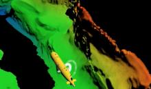 AUV mapping canyon walls