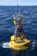 The PAP Observatory buoy on the ocean surface