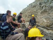 Southampton students on AAPG field trip