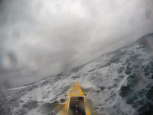 Autonaut in rough seas