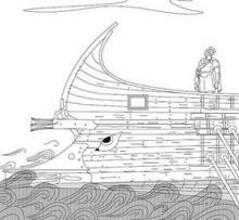 Reconstruction of a Hellenistic warship (Drawing by Kirsten Flemming)