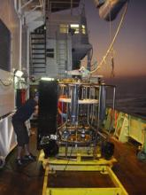 CTD sampling at night