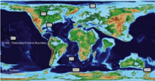 Geographical reconstruction for the PETM from the PALEOMAP Project (www.scotese.com)