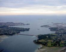 Aerial view of the La Rance tidal barrage
