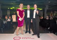Marlan MD Alex Sinclair collects the award