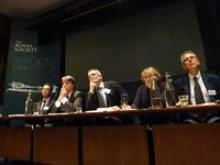 The panel for the Q&A session at the Royal Society