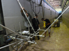 The wave flume: setting up the acoustic systems